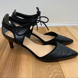 Franco Sarto 9 black Darlis leather heels